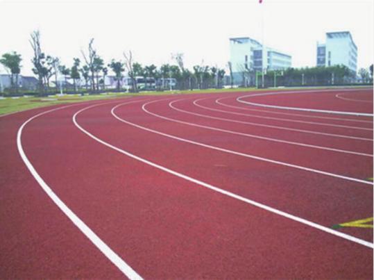 孝义市胜溪中学400m透气式跑道